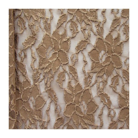 Sh.858 - Coffee Strech Lace