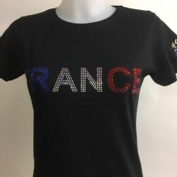 Tee Shirt FRANCE Strass
