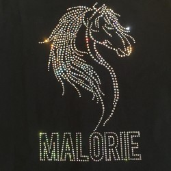 Jacket Horse Head-Rhinestone Strass