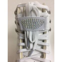 Starlight Lace Straps Rhinestone White